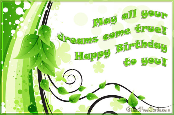 May your dreams come true card