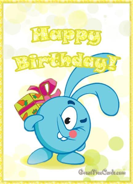 Happy birthday card cake