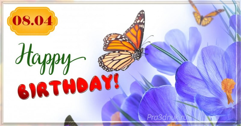 Birthday butterfly april 8