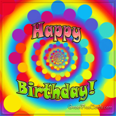 Happy birthday greeting card rainbow