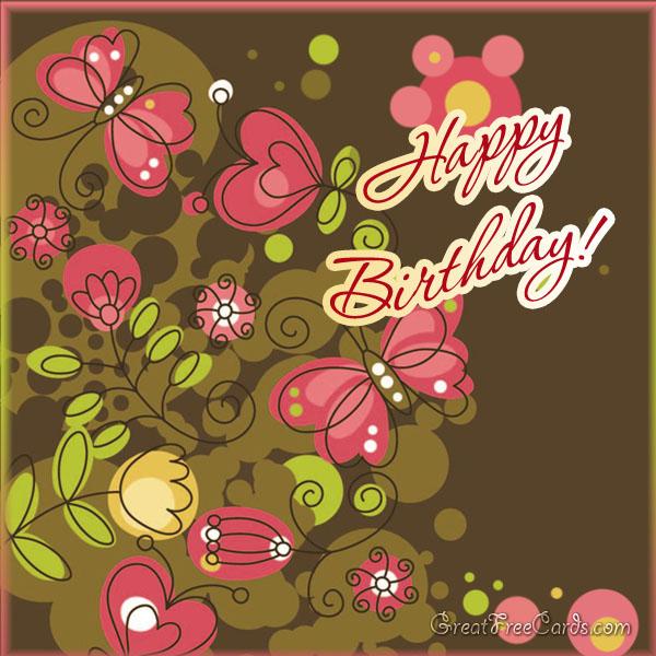 Happy birthday greeting card retro