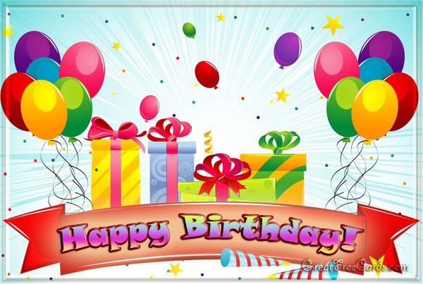Happy birthday card balloon