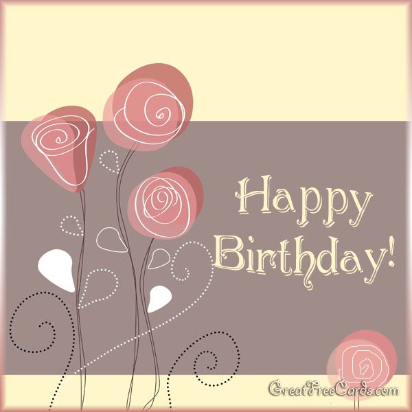 Happy birthday card - flowers