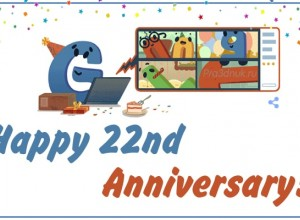 google 22 th anniversary