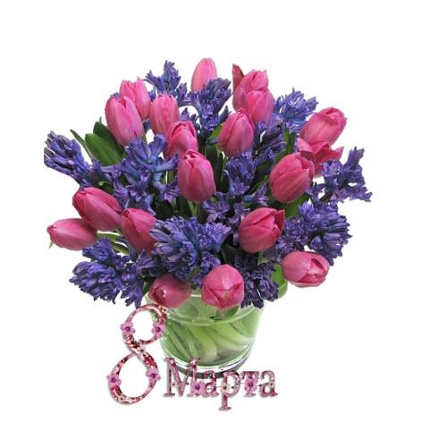 Открытки на 8 марта букеты цветы