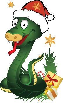змея новогодняя png