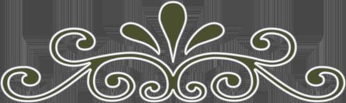 разделитель виньетка зеленая